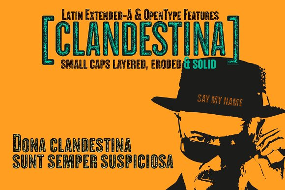 CLANDESTINA FONTS
