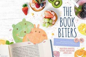 The Book Biters + bonus cards
