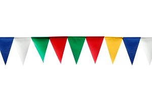 Festive triangular flags