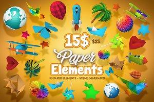 Paper Elements - Scene Generator