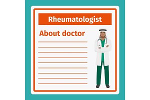 Medical notes about rheumatologist