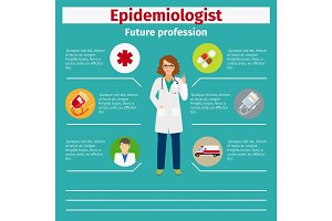 Future profession epidemiologist infographic