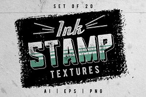 Ink stamp textures , set of 20