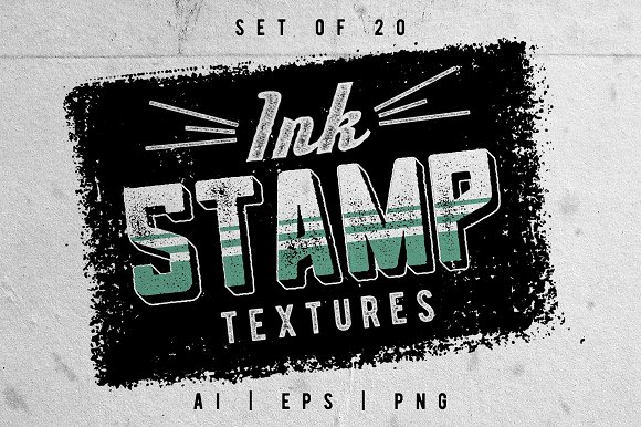 Ink Stamp Textures Set Of 20
