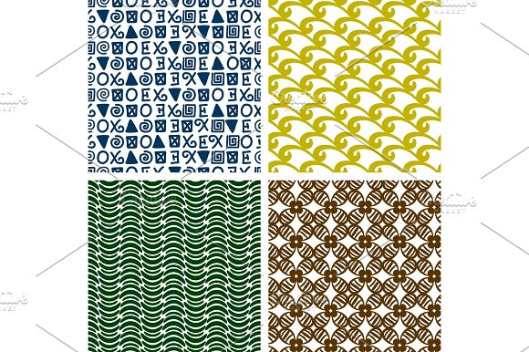 Traditional Print Colorful Seamless Patterns