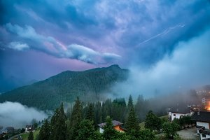 Thunder and lightning in the Alps
