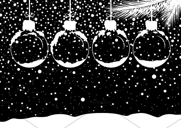 Vector Blank Christmas Ball
