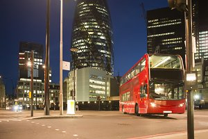 Red Bus in City of London