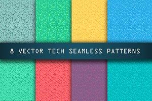 High Tech Seamless Patterns