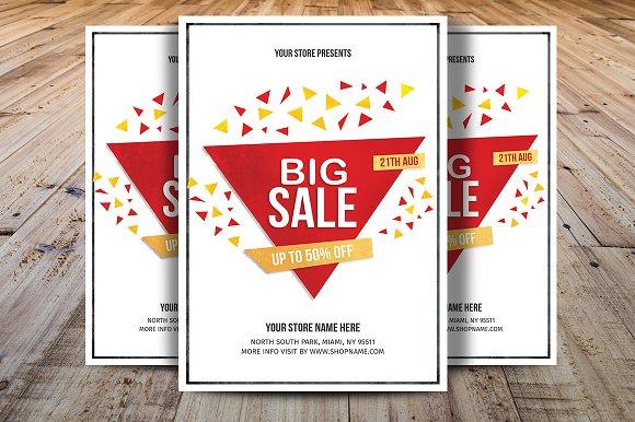 big sale flyer template flyer templates creative market