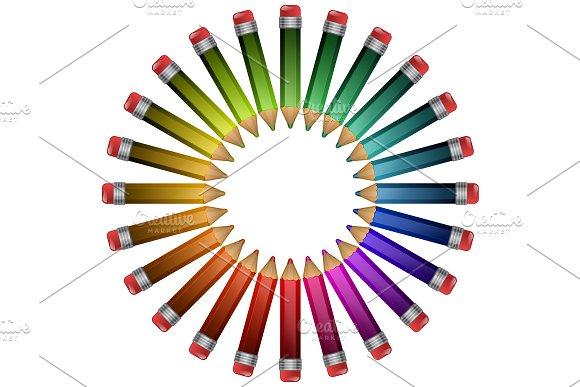 Colored Pencils Lying Around