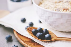 Fresh blueberry and cereal