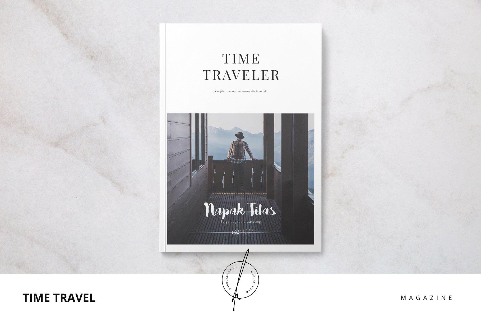 Time Traveler Magazine - Magazine Templates | Creative Market Pro