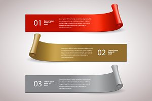 Ribbons set. Infographic template