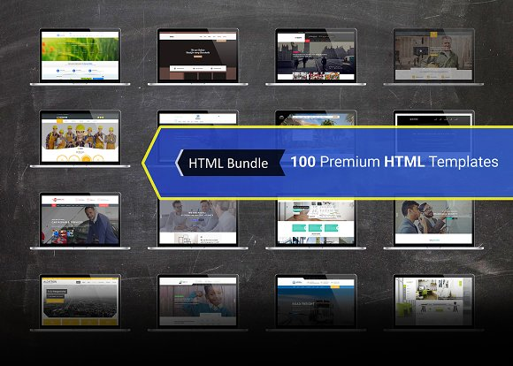 100 Premium HTML Templates Bundle