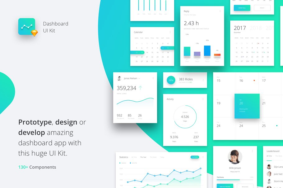 Datta - Dashboard UI Kit ~ UI Kits and Libraries ~ Creative Market