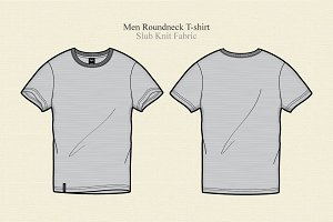 Men Round Neck T-shirt Vector