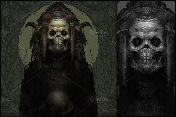 Horror Voodoo Skull Demon