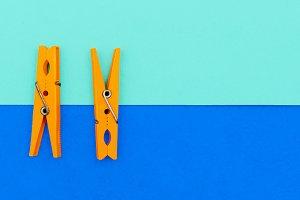 Orange clothespins.minimal art