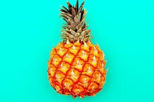Pineapple minimal art style