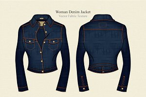 Woman Denim Jacket Template