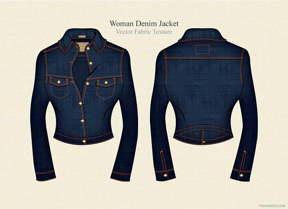 Woman Denim Jacket Template