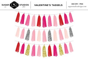 Valentine's Tassel Digital Set