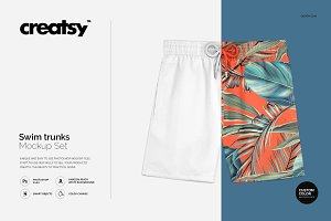 Swim Trunks Mockup Set