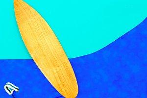 Surfing vibes minimal art design