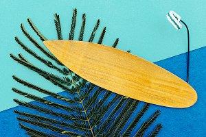 Surfing time minimal art