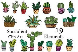 Succulent Vector Clipart