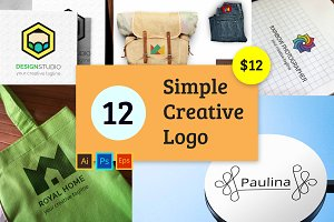 12 Simple Creative Logo