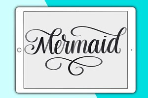 Mermaid Procreate lettering brush