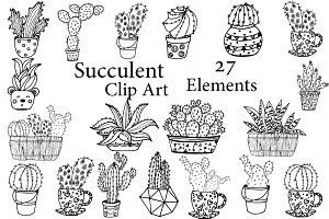 Succulent Clipart