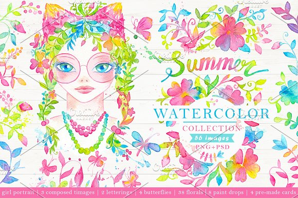 Watercolor Summer Collection 50%OFF