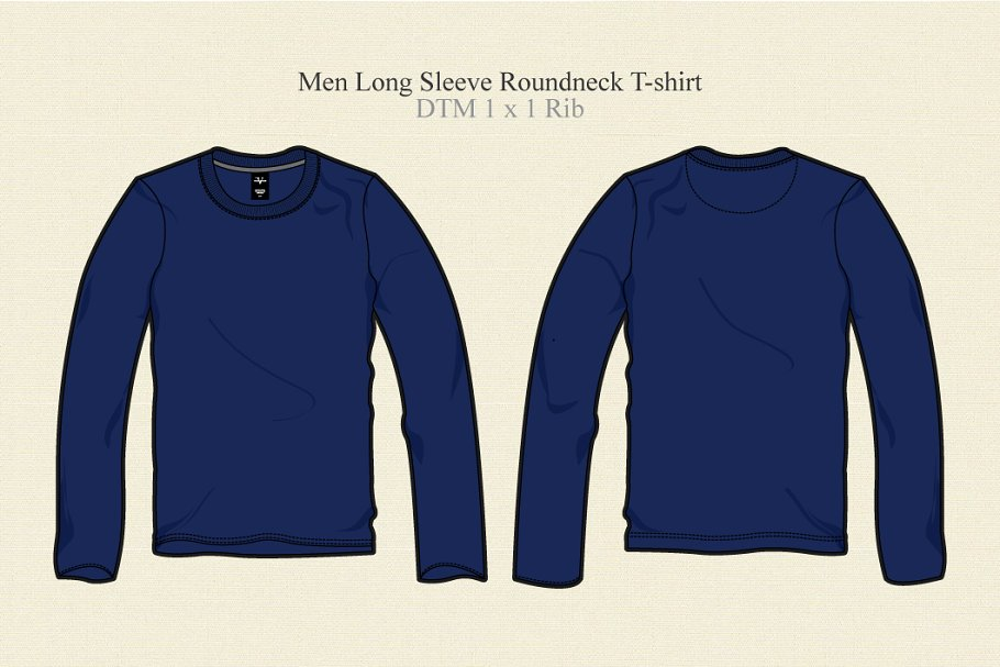 ff920a49 Men Long Sleeve Round Neck T Shirt ~ Illustrations ~ Creative Market