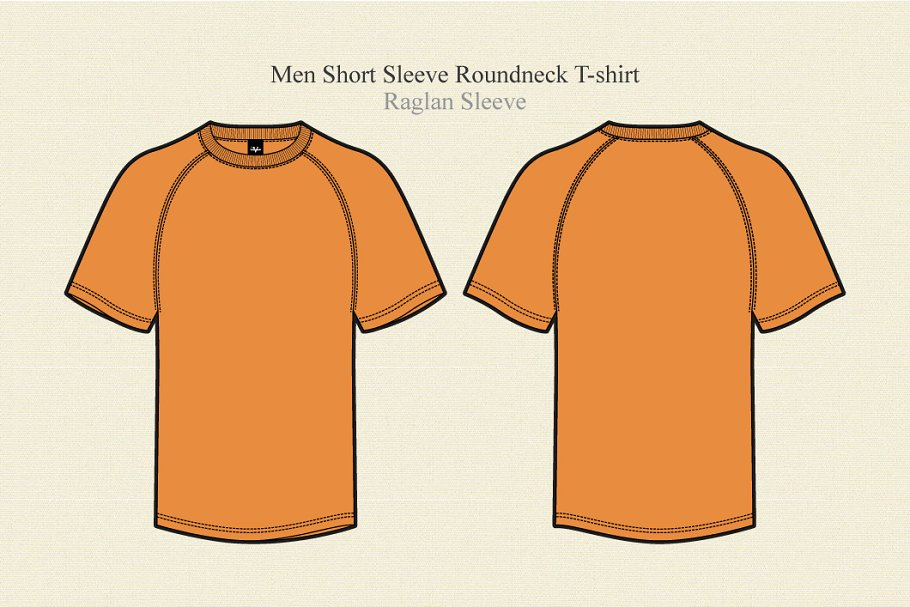 Men Raglan Sleeve Round Neck T-Shirt