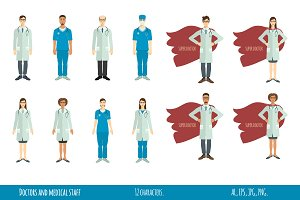 Doctors and medical staff -12 icons