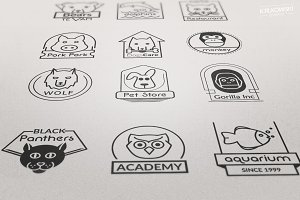 Animals Vectors Badge like Logos