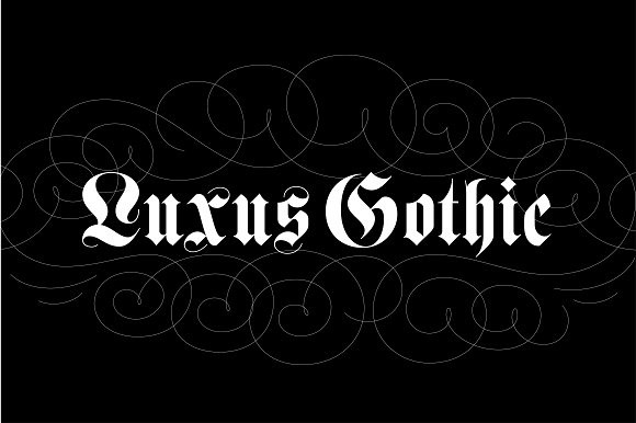 Luxus gothic blackletter fonts on creative market for Template gothic font free