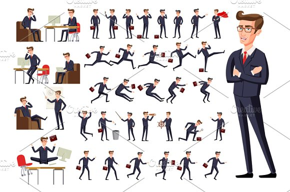 Flat Manager Office Workplace Men