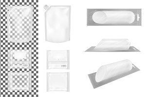 Set of transparent packaging