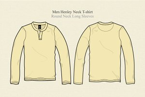 Men Henley Neck T Shirt Long Sleeves