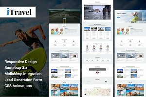 iTravel - Html Landing Page Template