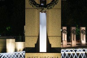 West Virginia state column at World War Two memorial