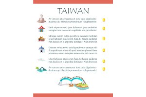 Taiwan Brochure with Information and Sightseeings