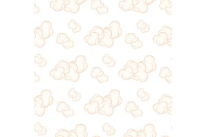 Seamless Pattern with PinkClouds Isolated Vector