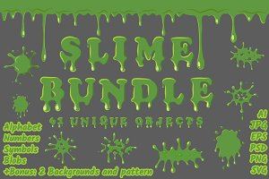 Green slime set collection