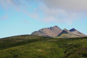Hvalnes cliffs in the southeast coast, Iceland.