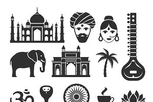 Indian vector icons